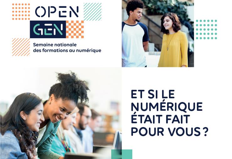 Open GEN 2020 : la semaine des formations au numérique !